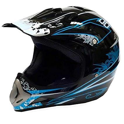Cross casque 819-2 pour cross, enduro, quad, aTV ou moto noir taille l :