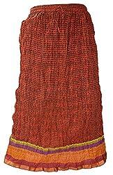 PMS Pure Cotton Multi Color Fashion Long Skirts & Zari Border Skirt
