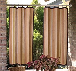 bamboo ring top indoor outdoor curtain brp12