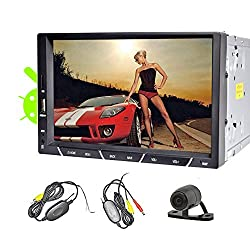 See Wireless Backup Camera 2015 New HOT Design PUPUG Android 4.2 System 7-Inch Double-DIN In Dash Car Radio Stereo Player Head Deck Touchscreen LCD Monitor with Bluetooth WIFI and GPS Navigation Rotate Menu HD:800*480 LCD Free GPS Antenna No Disc Car Video Pl Details