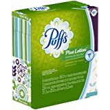 Puffs Plus Lotion Facial Tissues,224 Count (4 X 56 Tissues Per Box) (Pack of 6) (Packaging May Vary)