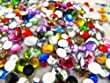 Rhinestones, 1000 Per Pack, Mixed Colours and Sizes, Flat Back, Acrylic Gems / Crystals