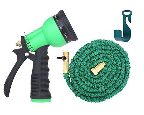 KLAREN Expandable Garden Hose - 50ft Green Kink, Flexible - The Best Expanding Garden Hose for all your Watering Needs, Comes with a Free 8 Setting Spray Nozzle & Hose Hanger US Seller (Backflow Pipe Insulation compare prices)