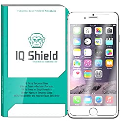 IQ Shield Tempered Glass - Apple iPhone 6 Plus / 6S Plus 5.5 Ballistic Glass Screen Protector (Lifetime Warranty) - 99.9% Clear True HD Glass Shield / 9H Hardness / Shatter-Proof + Bubble-Free