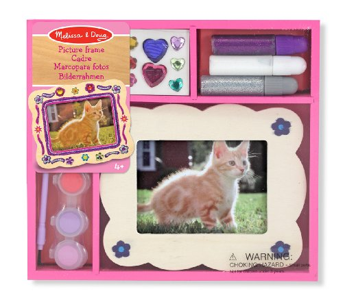 Melissa doug wooden picture frame decorate your own for Decorate your own picture frame craft