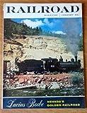 Railroad Magazine January 1955 - Lady Train Dispatcher, Train Wrecking Baboon, Snow On The Tracks