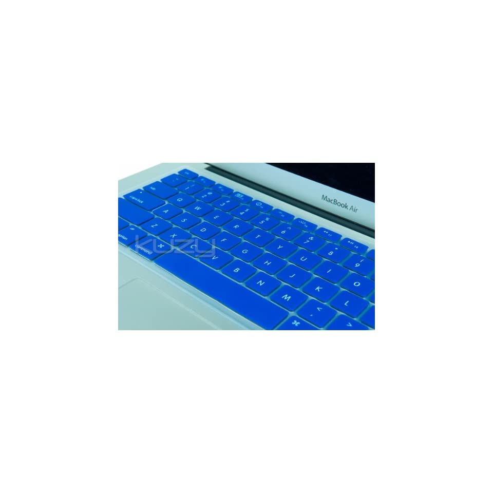 Kuzy   AIR 11inch BLUE Keyboard Silicone Cover Skin for MacBook Air 11.6 Models A1370 and A1465   (USA KEYBOARD VERSION)   Blue