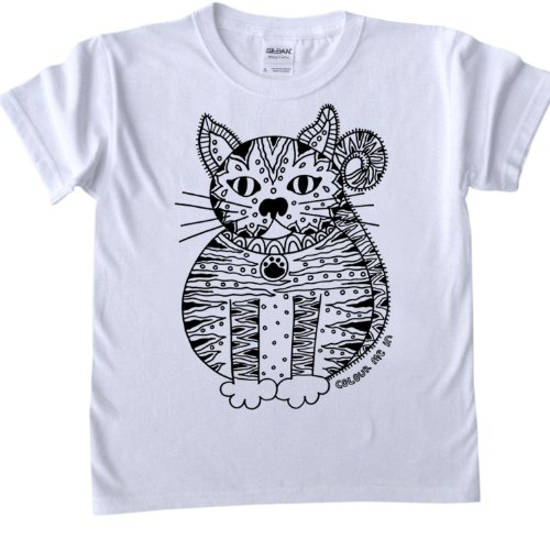 T-Shirts For Colouring In - Fat Cat Design