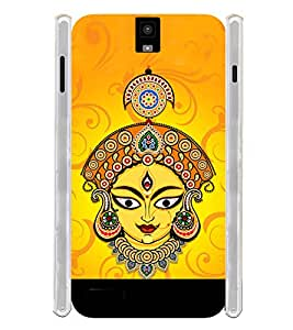 Lord Durga Maa Soft Silicon Rubberized Back Case Cover for Infocus M330