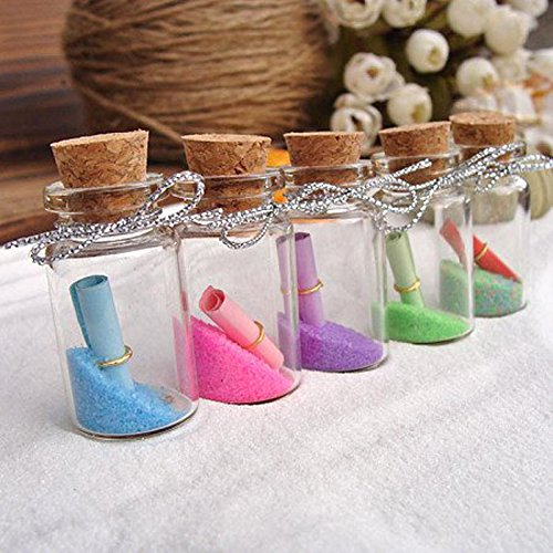 "LEFVâ""¢ 2ml Small Bottles Transparent Mini Glass Jars With"