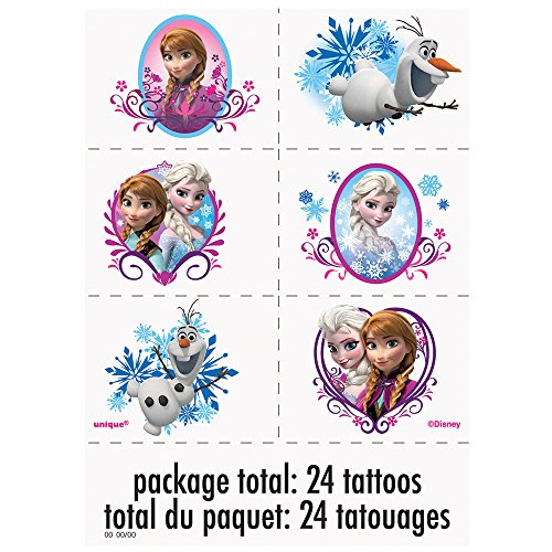 Disney frozen tattoos 24ct health beauty personal care for Disney temporary tattoos