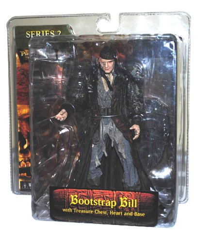 "Buy Low Price NECA Disney Movie Series Pirates of the Caribbean ""Dead Man's Chest"" 7 Inch Tall Action Figure – Bootstrap Bill with Treasure Chest, Heart and Display Base (Series 2) (B003QINJQ0)"