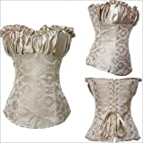 Costumes sexy de danse ršŠtro floral brocart corset Sexy & goddess ( kaki )