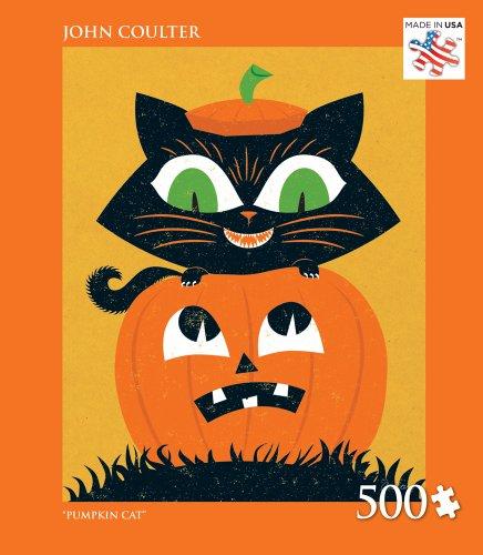 Andrews + Blaine Pumpkin Cat Jigsaw Puzzle, 500-Piece