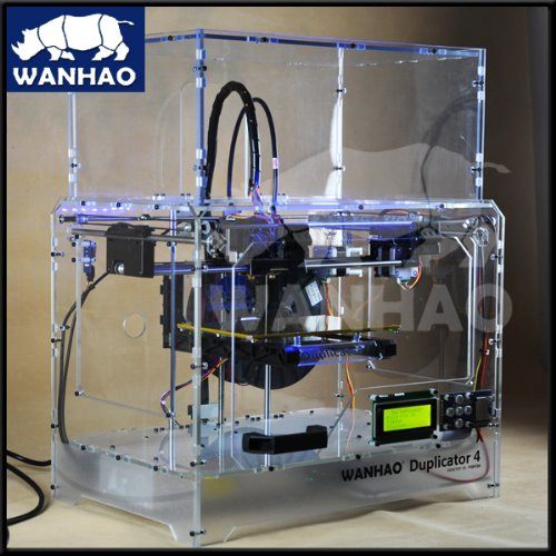 New 3D Printer - Wanhao Duplicator 4X- Dual Extruder - December 2013 - Transparent Casing