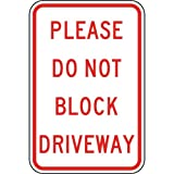 ComplianceSigns Vinyl Parking Control Label, Reflective 18 x 12 in. with Parking Not Allowed info in English, White