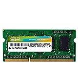 シリコンパワー ノートPC用メモリ 1.35V (低電圧) - 1.5V 両対応?204Pin DDR3L 1600 PC3L-12800 4GB 永久保証 SP004GLSTU160N02