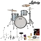 Ludwig USA Classic Maple 3 Pc Drum Kit in Sky Blue Pearl (L8303AX52WC) - Includes: Zildjian A390 Cym