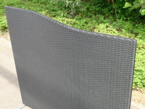 paravent polyrattan sichtschutz trennelement welle. Black Bedroom Furniture Sets. Home Design Ideas
