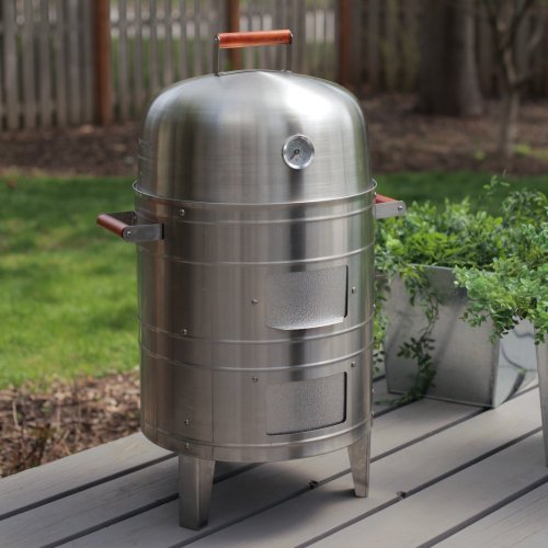 Meco Meco Double-Grid Electric Water Smoker, Stainless Steel, 351