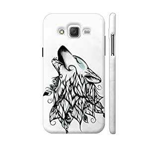 Colorpur The Wolf Designer Mobile Phone Case Back Cover For Samsung Galaxy J5 | Artist: LouJah