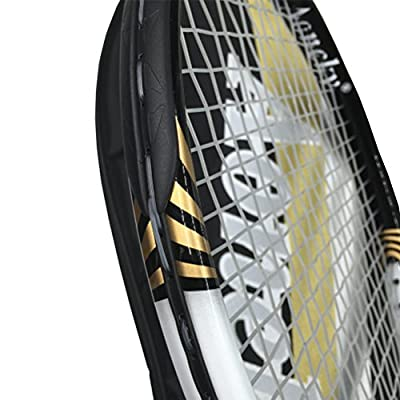 "Aoneky 27'' Strung Tennis Racket - Junior - with Cover - 4 1/8 Inch Grip, 27""/White and Black"