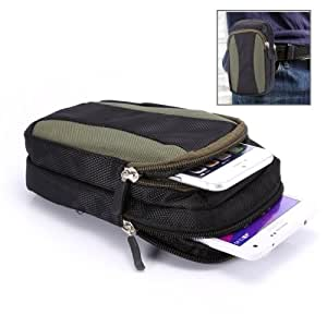 Universal Two Layer Multi-function Climbing Portable Bag for iPhone 6 Plus / Smasung Galaxy S6 (Dark Green)