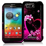 Purple Love Design Crystal Hard Skin Case Cover for Motorola Photon Q 4G LTE XT897