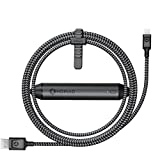 Nomad Ultra Rugged 1.5 M Battery Cable for iPhone and iPad - Pass-Through Charging Technology - 2350mAh Portable Battery - Ballistic Nylon Core