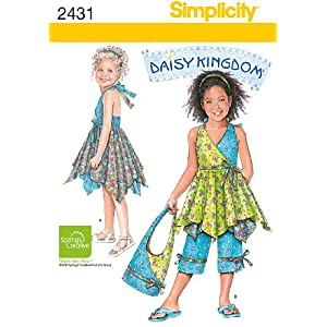 Simplicity Sewing Pattern 2431 Child's Dresses, A (3-4-5-6-7-8)