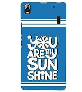 printtech Sun Shine Back Case Cover for Lenovo K3 Note