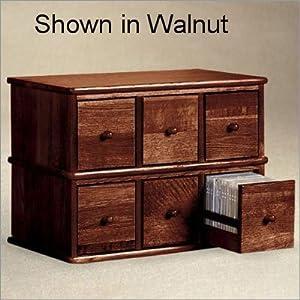 Amazon.com: Apothecary Style CD Storage Cabinet, Cherry ...
