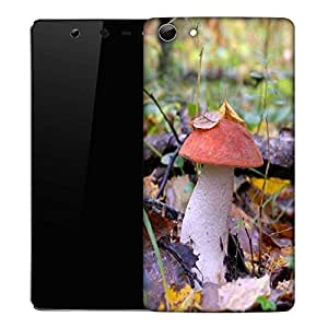 Snoogg Red Mushroom Designer Protective Phone Back Case Cover For Micromax Canvas Selfie Q348