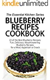 Blueberry Recipes: 22 of the Best Blueberry Recipes: Fun, Delicious, Mouthwatering Blueberries Recipes for a Meal, Appetizer, or Snack (The Essential Kitchen Series Book 60)