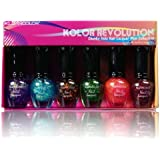 KLEANCOLOR Nail Lacquer Mini Collection - Kolor Revolution - Chunky Holo -KCNPC605 Kolor Revolution