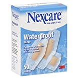 Nexcare Bandages, Waterproof, Clear, Assorted, 50 ct.