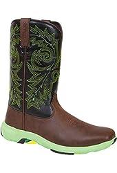 "Durango Western Boots Mens 11"" Rebel Lite Full Flavor Brown DWDB002"
