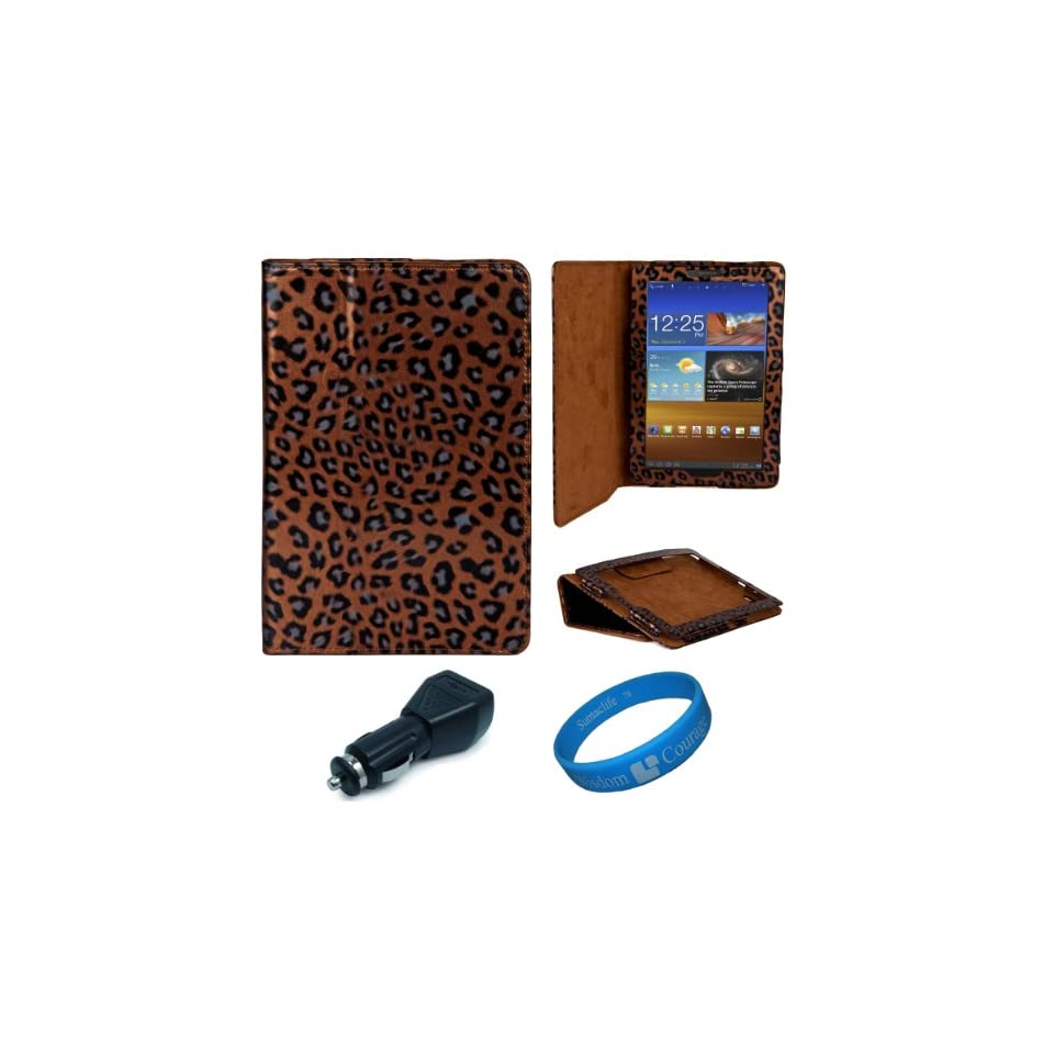 com Brown Leopard Executive Leather Case Cover for Samsung Galaxy Tab