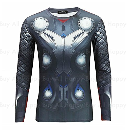 [New Avengers Age of Ultron Thor Odinson Printed Long Sleeves Costume T-shirt (L)] (Female Centaur Costume)