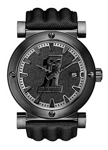 Harley Davidson Men S Black Stainless Steel Bezel Wrist Watch B