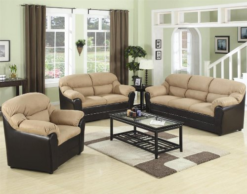 Taylor Two-Tone Living Room Set - 501881N - Coaster Furniture