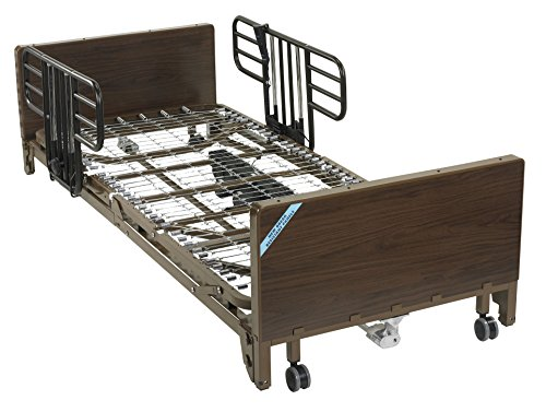 Drive Medical Ultra Light Plus Full-Electric Low Bed, Brown, 36""
