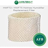 HWF72 / HWF75 Holmes Humidifier Replacement Filter. Fits Holmes humidifier models HM850, HM3300, HM3400, HM3500, HM3501, HM3600, HM3607, HM3608, HM3640, HM3641, HM3650, HM3655, HM7600, HF221, and HSL5000. Designed by AFB in the USA