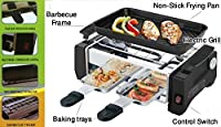 Krevia Deals Compact Electric Barbecue Grill And Tandoor - Now With Frying And Roasting Function(HY9098A)