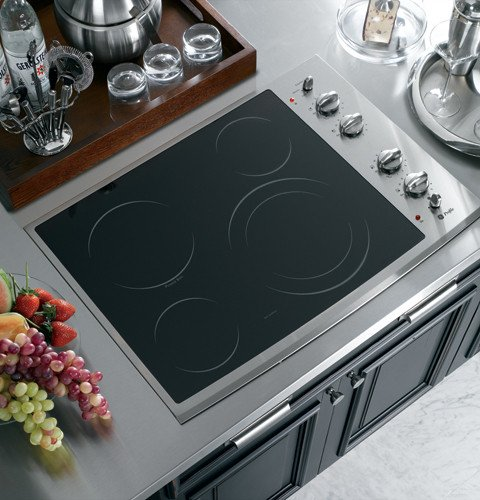GE PP912SMSS ProfileTM 30″ Built-In CleanDesign Electric Cooktop  ->  GE Consumer and Industrial spans the globe as an i