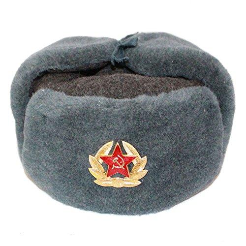 COLBACCO LANA (NON E' POLYESTERE) IN DOTAZIONE ESERCITO RUSSO ORIGINAL SOVIET USHANKA. TAGLIE DISPONIBILI 60/61