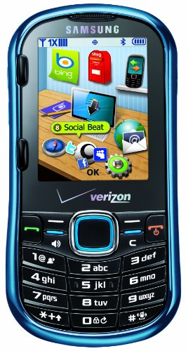 Samsung Intensity II SCH-U460 Phone, Metallic Blue (Verizon Wireless)