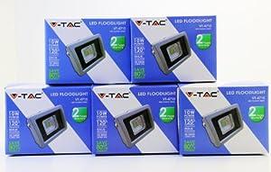 VidaXL Lot de 5 spots LED muraux 230 V 10 W IP65