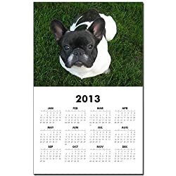 CafePress French Bulldog Face Calendar Print - Standard made by CafePress