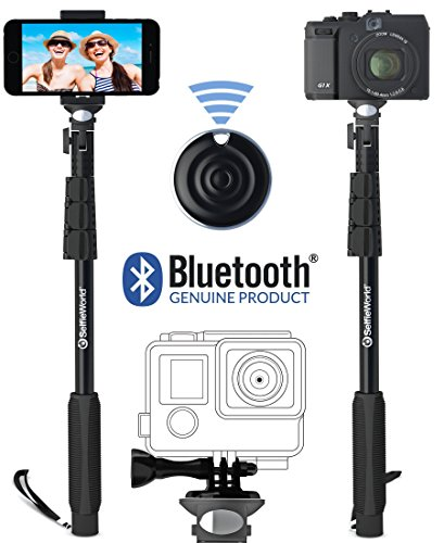 Professional 10-In-1 Monopod / Selfie Stick For GoPro Hero, iPhone, Samsung Galaxy, Digital Cameras With Bluetooth Remote Shutter (Cellphones Only) (Palo De Fotos compare prices)